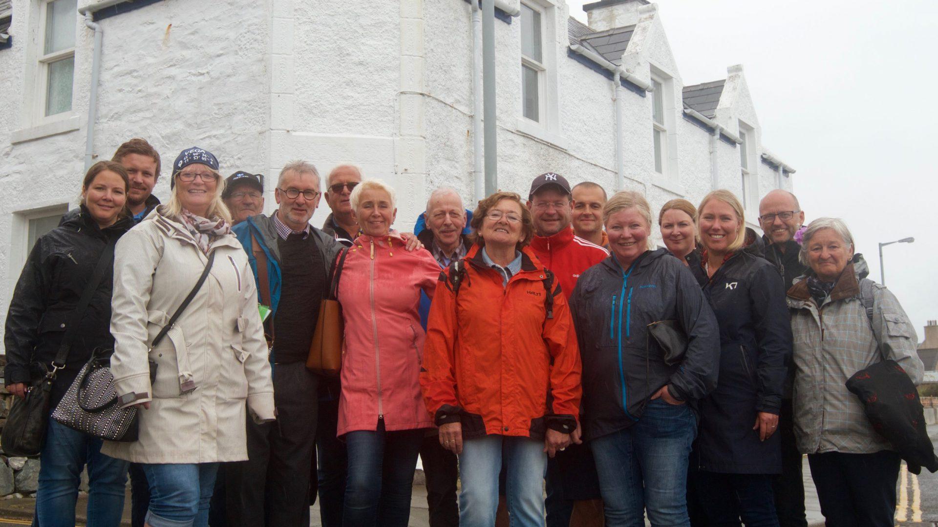 En fornøyd gjeng fra Lånan på Shetland